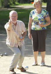 Boules at Verdoyer, Dordogne